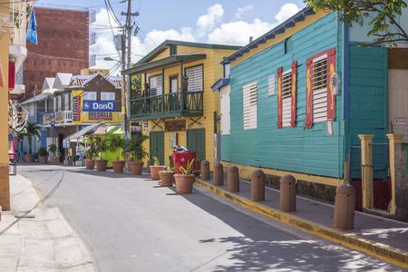 BOQUERON, Puerto Rico, Verenigde Staten - 17 januari 2014: De badplaats van Boqueron in Puerto Rico Redactioneel