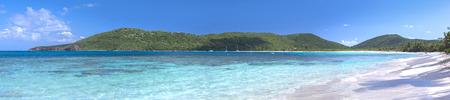 Beautiful panoramic of tropical beach Caribbean getaway of Flamenco Beach on Isla Culebra, Puerto Rico Banque d'images