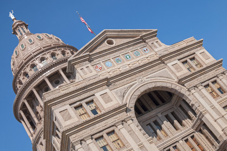 lawmaking: Beautiful majestic state capitol building in Austin, Texas on a sunny day with pure blue sky
