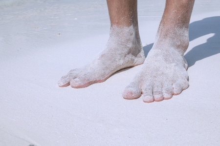 sandy feet: Sandy feet Stock Photo