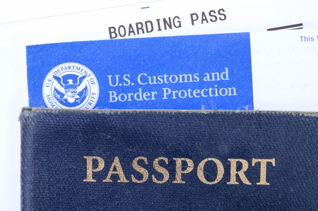ATLANTA, USA - DECEMBER 11, 2014: Americans traveling abroad need a valid U.S. passport and a completed customs declaration form when returning to the U.S. by air