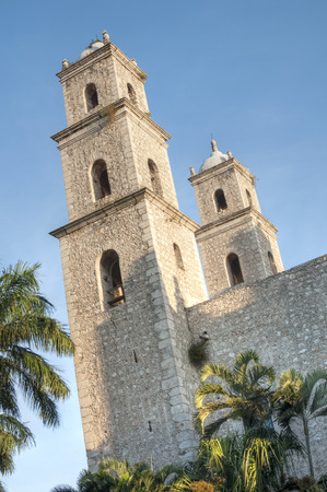order in: Exterior and side view of the Church of the Third Order in Merida, Yucatan