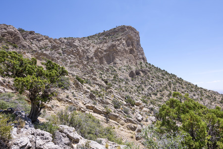 red rock national conservation area: West side of Turtle Head Peak in Red Rock National Conservation Area Nevada on clear sunny day in late spring