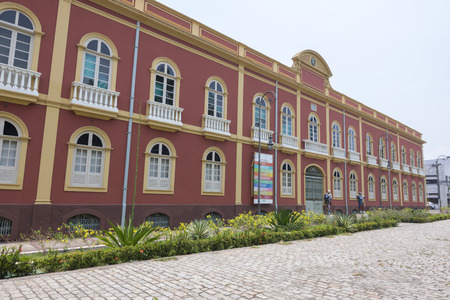 amazonas: MANAUS, BRAZIL - OCTOBER 18, 2015: Built in 1895 and last restored in 2009, the Provincial Manor House in Manaus, Amazonas is a beautiful place to visit and houses several interesting museums and galleries. Editorial
