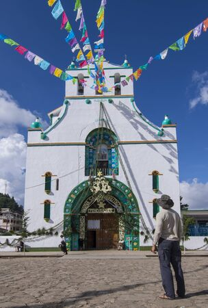 SAN JUAN CHAMULA, CHIAPAS, MEXICO - JUNE 23, 2018: San Juan Chamula preserves a unique and thriving culture greatly admired by the few foreign travelers that adventure to this part of Mexico. Editorial