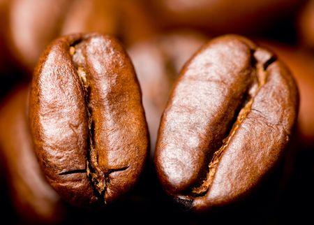 Macro shot of fresh aromatic coffee beans photo