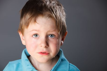 Portrait of 4 years old crying boy Stock Photo - 4774138