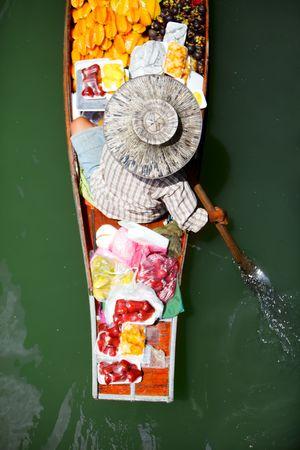 saduak: Damnoen Saduak Floating Market near Bangkok, Thailand Stock Photo