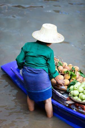 Damnoen Saduak Floating Market near Bangkok, Thailand photo