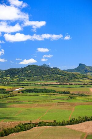 Beautiful landscape of eastern part of Mauritius photo