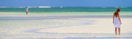 Beautiful girl on tropical beach of Zanzibar island Stock Photo - 6436434