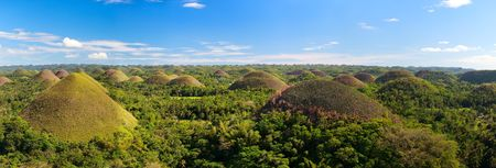 natural landmark: Panorama of  Bohol Chocolate Hills natural landmark in Philippines