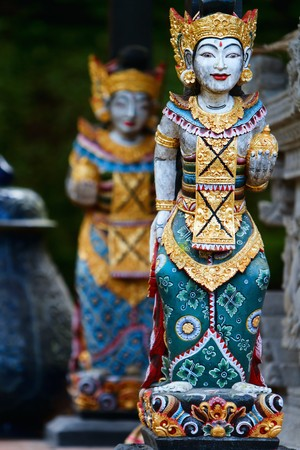 hindu god: two beautiful Balinese statues