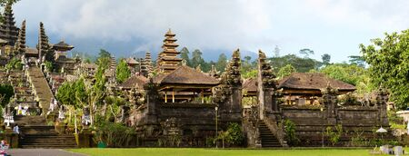 holiest: Panorama of Mother Temple of Besakih holiest and largest in Bali