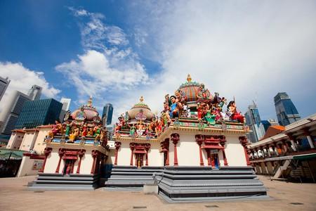 mariamman: Sri Mariamman the oldest Hindu temple in Singapore Stock Photo