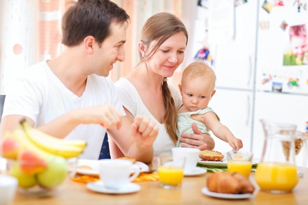 Family breakfast Stock Photo - 8158753