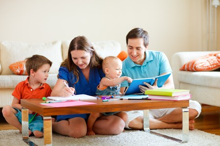 Family drawing Stock Photo - 8158751