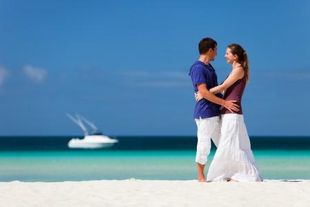 Couple on tropical beach photo