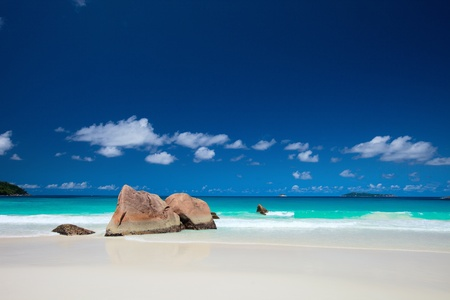 Anse Lazio the best beach on Praslin island in Seychelles Stock Photo - 8645630