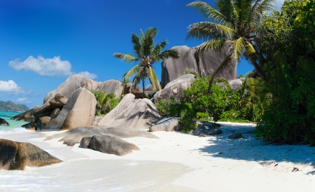 argent: Beautiful Anse Source d Argent beach in Seychelles