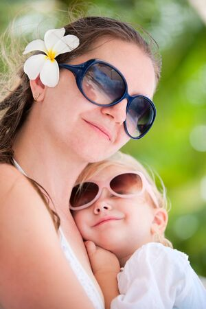 Portrait of loving mother and her adorable little daughter Stock Photo - 8645664