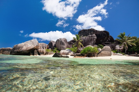 Stunning beach Anse Source d'Argent at Seychelles Stock Photo - 8703848