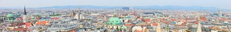 Panoramic photo of city center of Vienna in Austria Stock Photo - 9784329