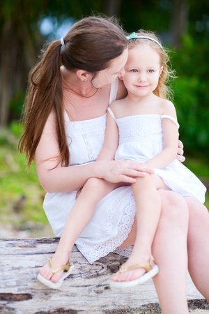 Portrait of happy mother and her adorable little daughter Stock Photo - 13192322
