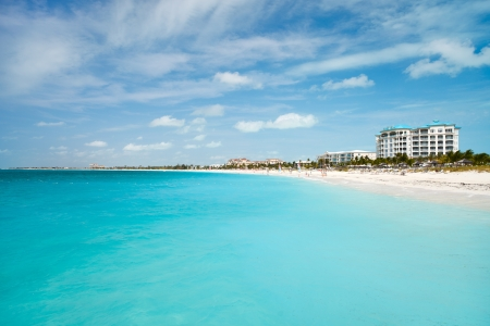 World best Grace bay beach at Providenciales on Turks and Caicos islands