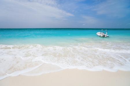 turks: Hermosa playa Caribe en Providenciales isla en Islas Turcas y Caicos