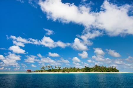Idyllic tropical island and turquoise ocean water
