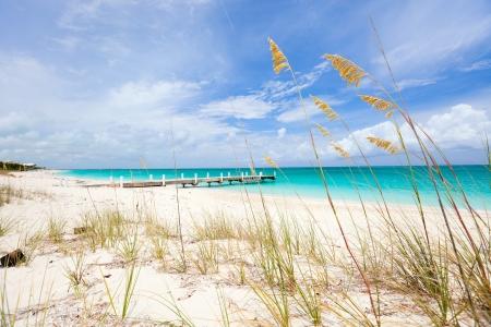 turks: Hermosa playa en Providenciales isla en Islas Turcas y Caicos Foto de archivo