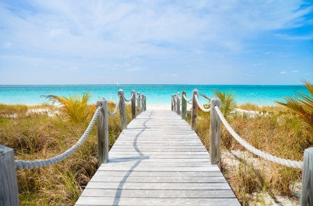 the turks: Beautiful beach at Caribbean Providenciales island in Turks and Caicos