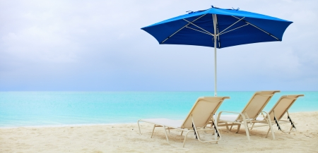 getaways: Cloudy day an beach on Providenciales island in Turks and Caicos