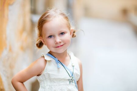 Portrait of adorable little girl outdoors Stock Photo - 15690688
