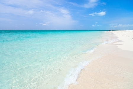 Grace bay beach at Providenciales on Turks and Caicos islands Stock Photo