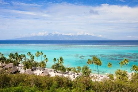 french polynesia: Beautiful coastal landscape of Moorea island in French Polynesia