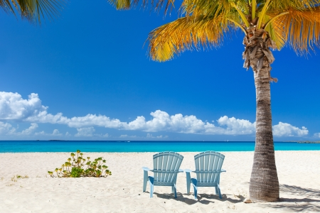Perfect Caribbean beach on Anguilla island photo