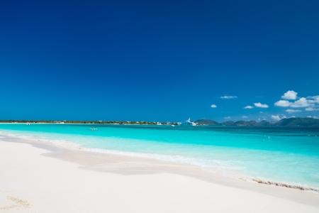 anguilla: Caribbean beach and sea on Anguilla Stock Photo
