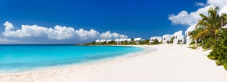 Panorama of a beautiful beach on Anguilla island, Caribbean