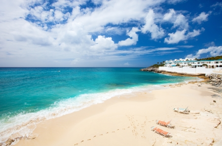 sint: Beautiful Cupecoy beach on Sint Maarten Caribbean