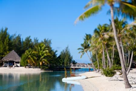 Beautiful beach on Bora Bora island in French Polynesia photo