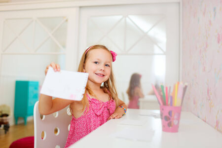 Adorable little girl in her room Stock Photo - 23164990