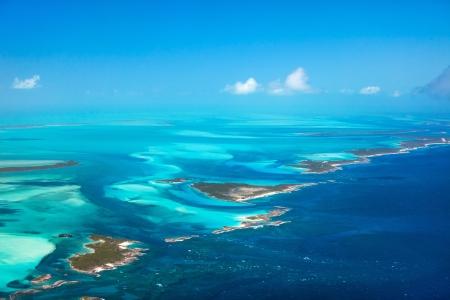 위에서 바하마 섬의 아름 다운보기