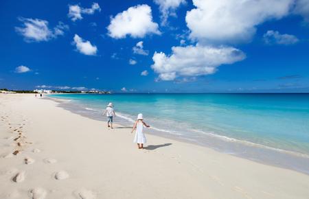 anguilla: Beautiful tropical beach at Anguilla, Caribbean