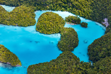 micronesia: Beautiful view of Palau islands from above