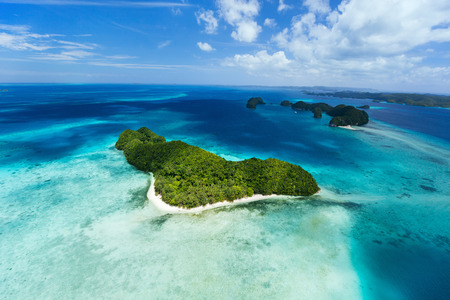 palau: Beautiful view of Palau islands from above