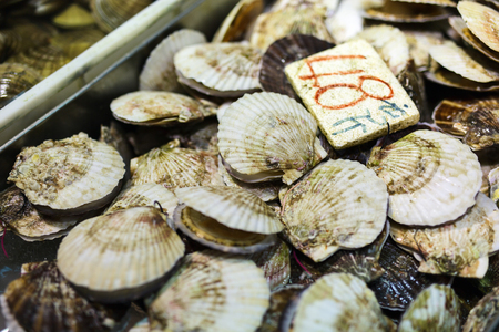clams: Assortment of fresh raw clams