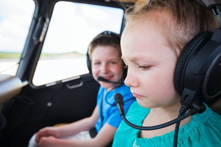panicked: Kids at cabin of helicopter before flight with little girl  scared