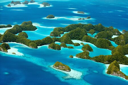 70: Beautiful view of 70 islands in Palau from above